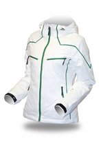 Bunda Trimm ICELADY white/ green
